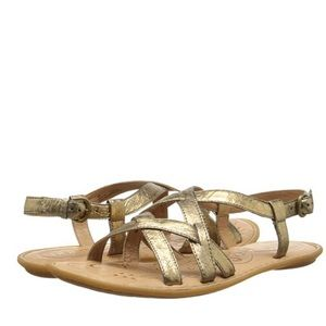 Born Eryka Sandals Gold Metallic 9